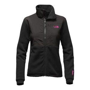 black breast cancer awareness north face jacket